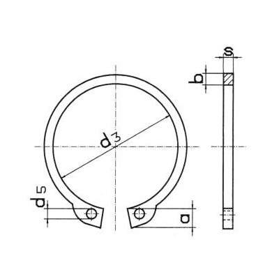 Pierścień seggera zewnętrzny nierdzewny Z 33