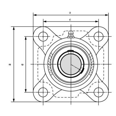Zespół łożyskowy termoplastyczny S UCFPL 204