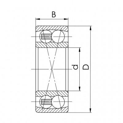 Łożysko kulkowe dwurzędowe wahliwe nierdzewne SS 2201 2RS