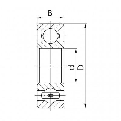 Łożysko kulkowe jednorzędowe nierdzewne SS 16003 2RS - wym. 17x35x8